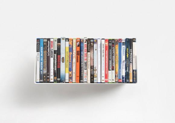 Mensola porta DVD - 45 cm - Acciaio