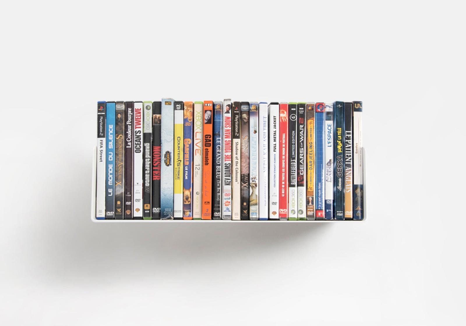 107 dvd wall shelf 45 x 15 cm
