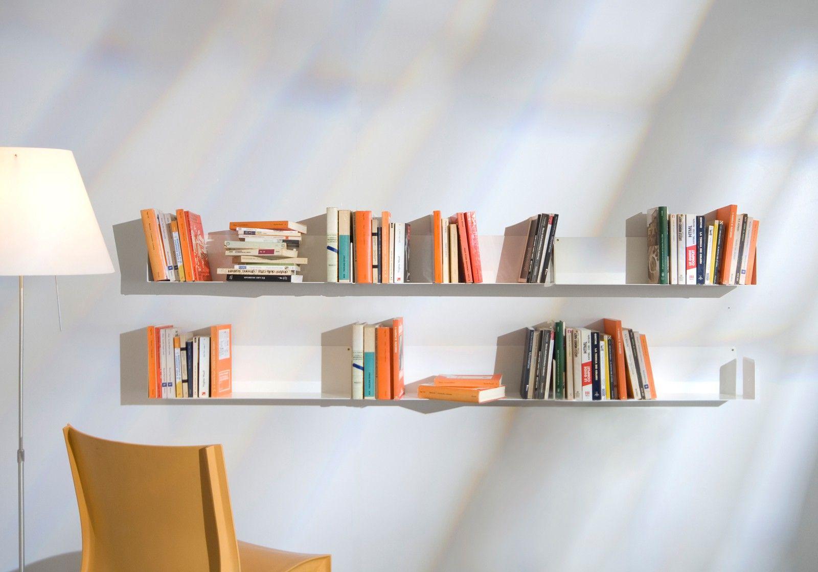 Mensole Per Libri Design.Mensola Per Libri Us 45 Cm Acciao