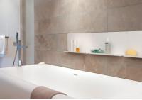 """Lot de 2 étagères murales pour salle de bain """"LE"""""""
