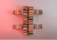 "Asymmetrisches Bücherregal ""T"" RECHTS"