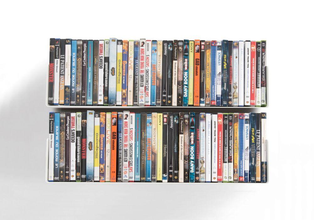 Mensole porta dvd set di 2 60 cm acciao for Mensole porta quadri