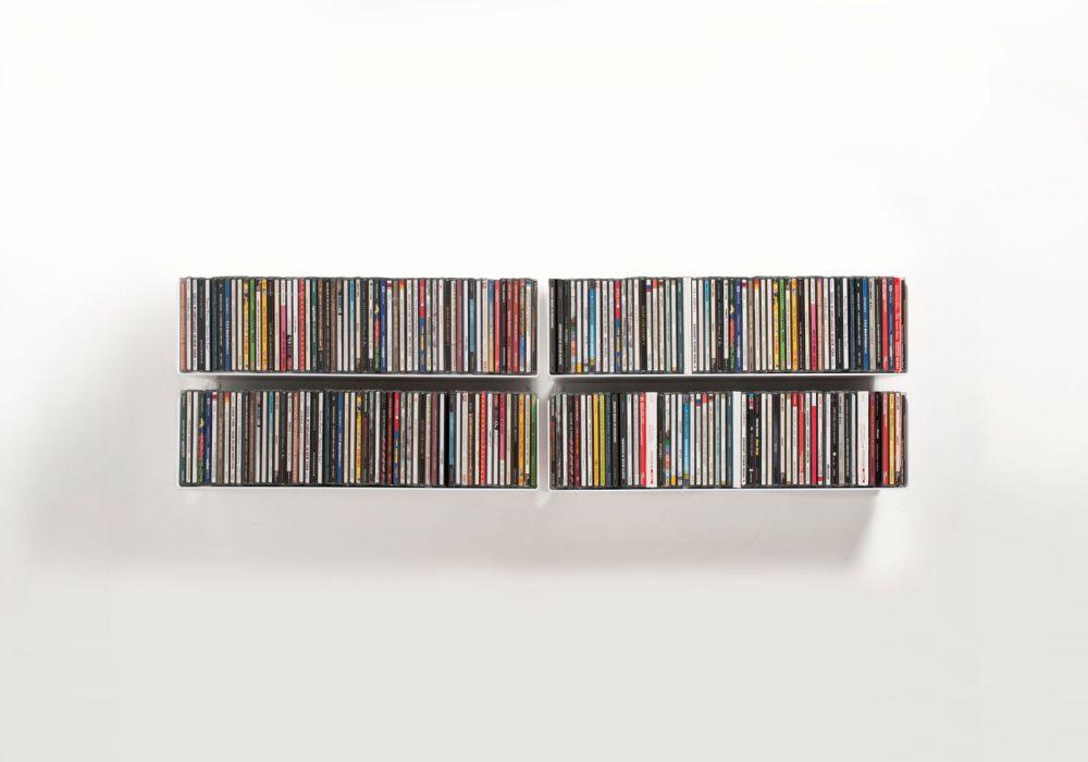 Étagère range CD USCD - Lot de 4
