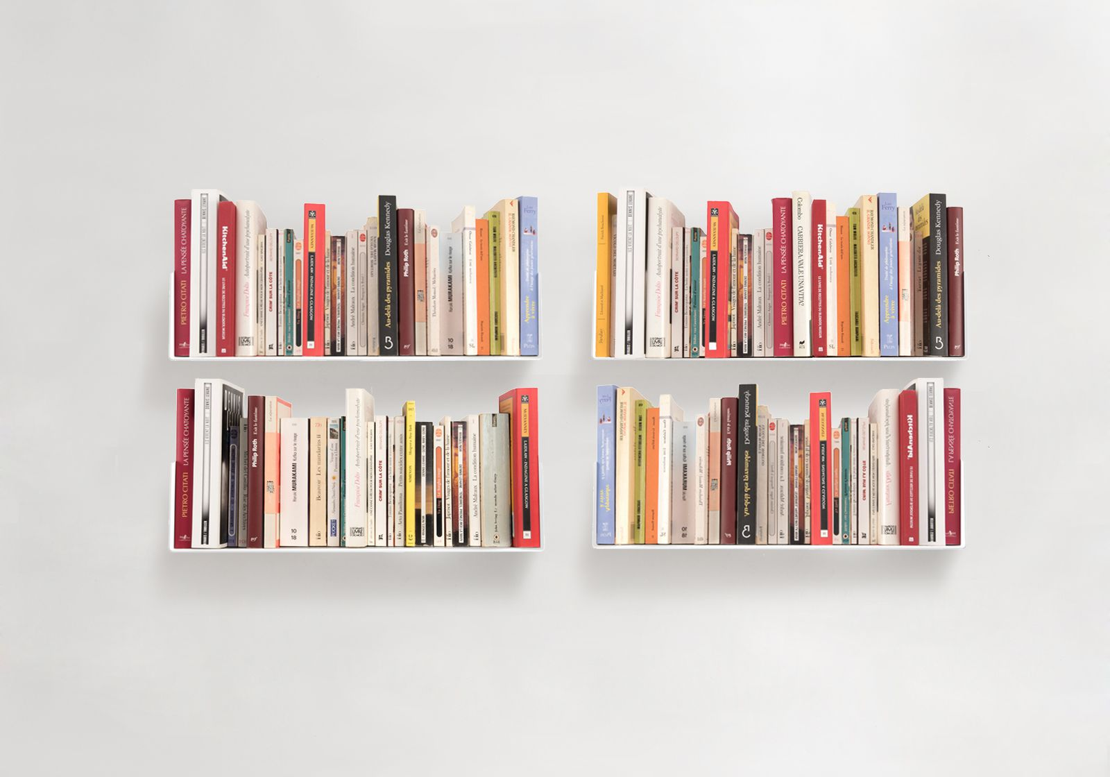 "Books Shelves bookshelves ""us"" - set of 4"