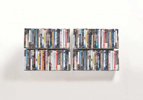 Étagère range DVD USDVD - Lot de 4 - 45 cm - Acier