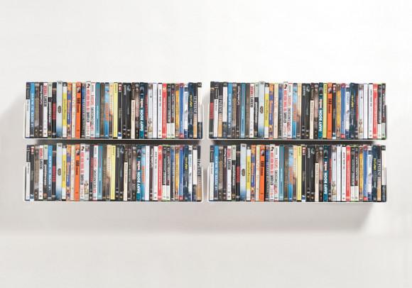 DVD-Regalen - Set mit 4 - 60 cm - Stahl