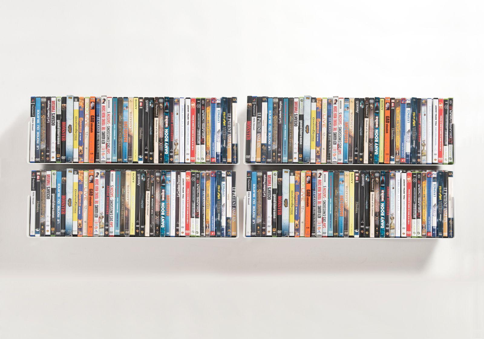 Étagère range DVD UDVD - Lot de 4