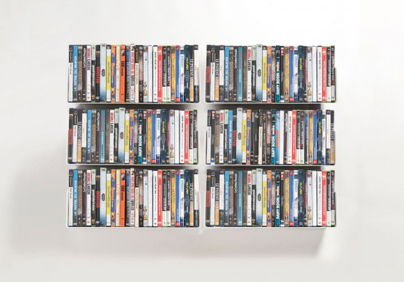 DVD Wall Shelf 45 x 15 cm - Set of 6