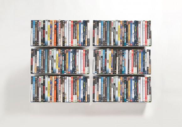 Mensole porta DVD - Set di 6 - 45 cm - Acciao