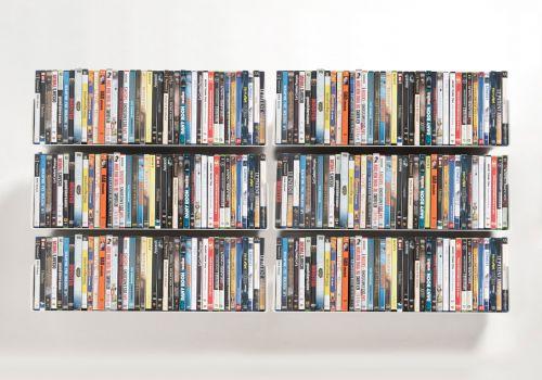 Set mit 6 UDVD -DVD-Regalen