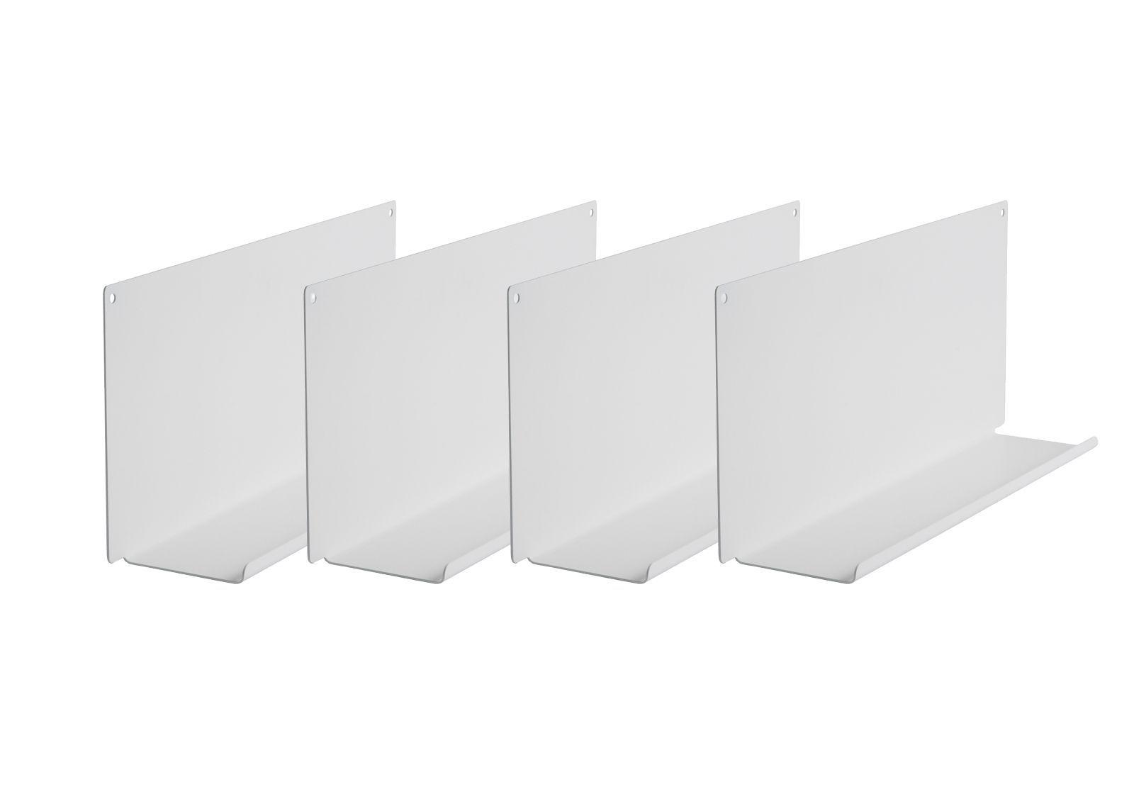 tag re cadres photo le lot de 2 45x10 cm blanc acier. Black Bedroom Furniture Sets. Home Design Ideas