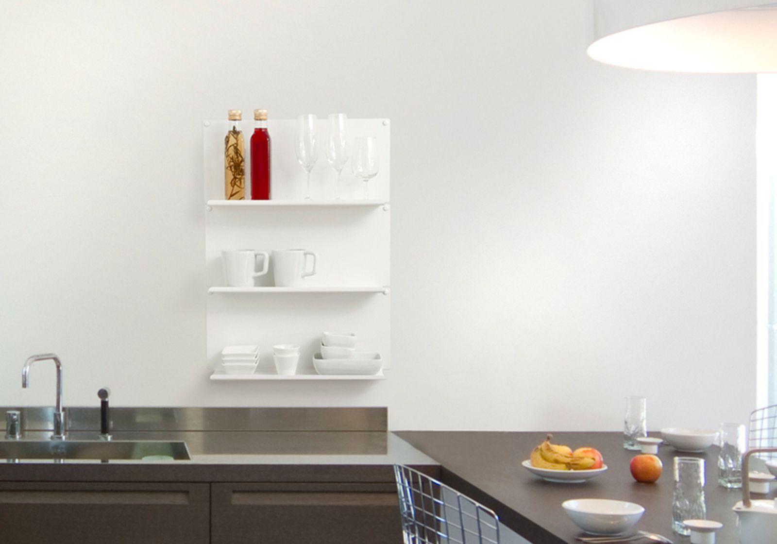 Tag re murale de cuisine le ot de 2 45x10 cm for Etagere murale profondeur 10 cm