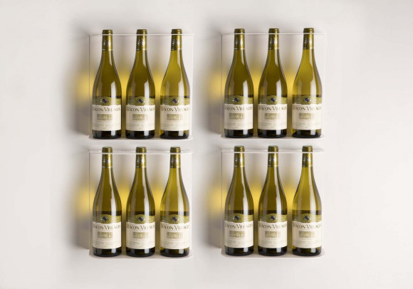 Set of 4 wine wall shelves TEEwine