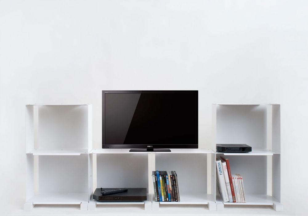 Meuble t l design 6c meuble de salon teebooks - Etagere murale sous tele ...