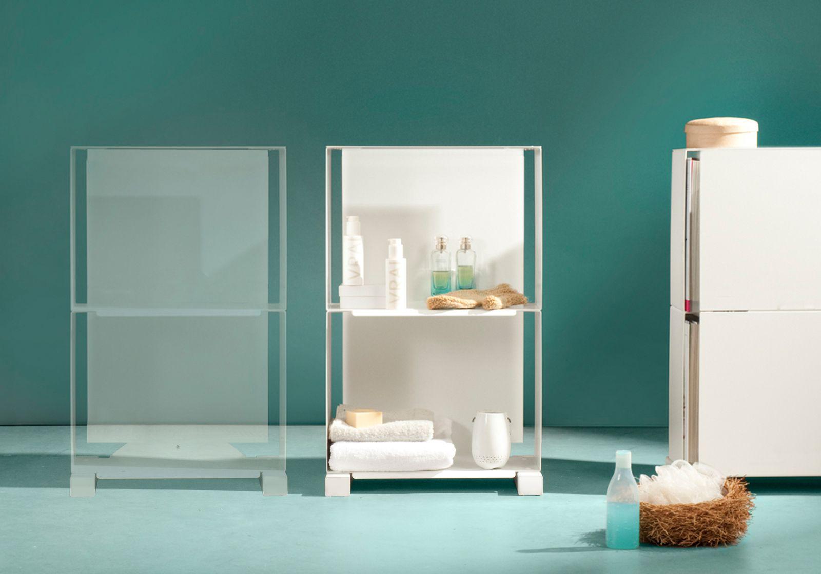 shelf design 2vb - l 45 cm, p 25 cm, h 72 cm - teebooks - Meuble Design Nice