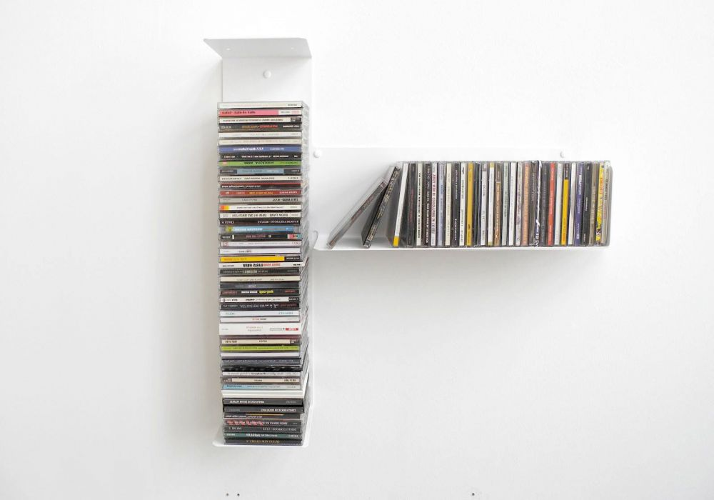 """Asymmetrisches CD Regal """"T"""" RECHTS"""