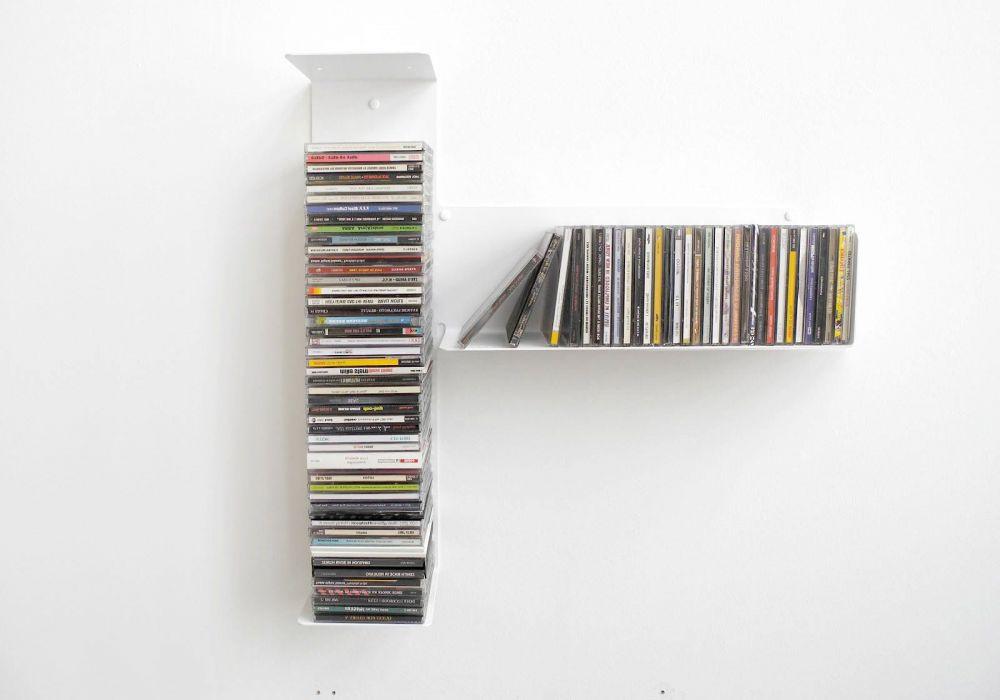 """Mensole per CD  """"T"""" asimmetrica DESTRA"""