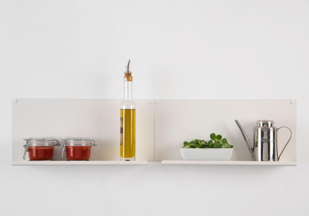 "Set of 2 Kitchen wall shelves ""LE""  vertical"