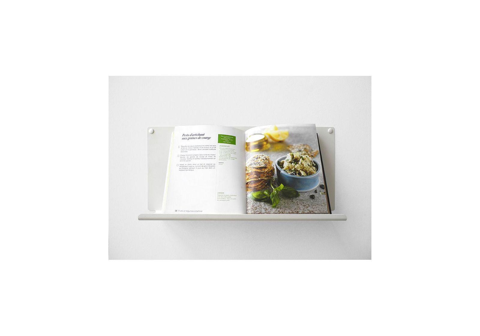 Tag re pour la cuisine le 45x15 cm acier blanc - Etagere murale pour cuisine ...