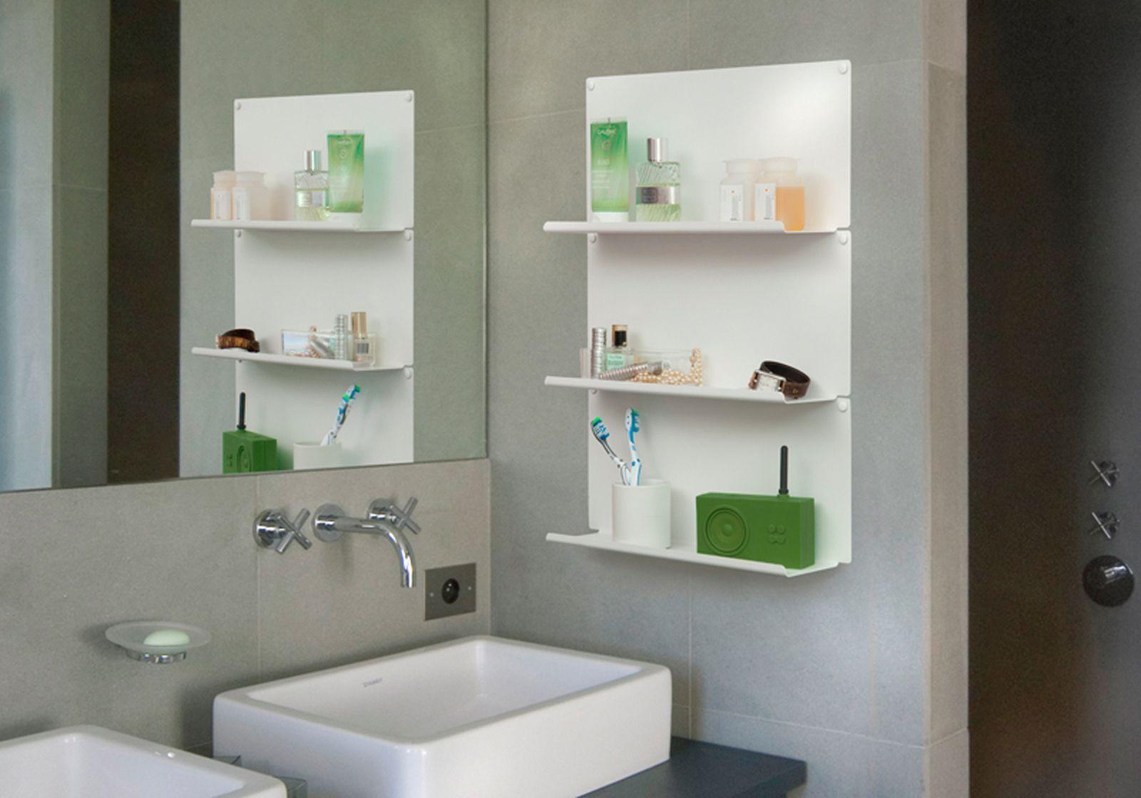 Tag re pour salle de bain le 45 x10 cm acier blanc - Etageres salle de bain ...