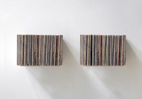 Schallplattenregal - Set aus 2 - Stahl