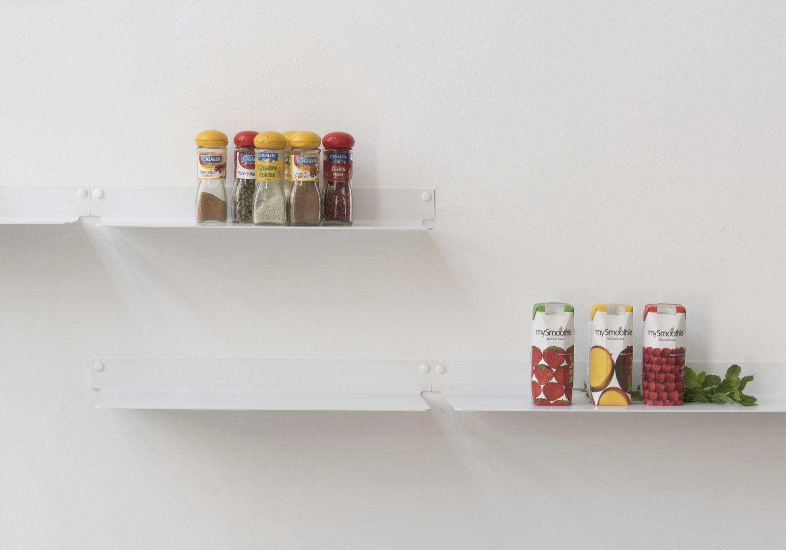 étagère Murale Design Blanc Invisible Et En Métal 60 Cm Lot De