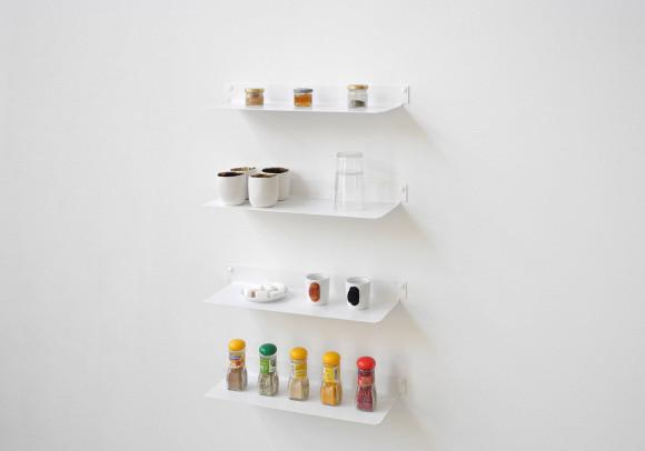 Küchenregale TEEline 45 cm - Set mit 4 - Stahl