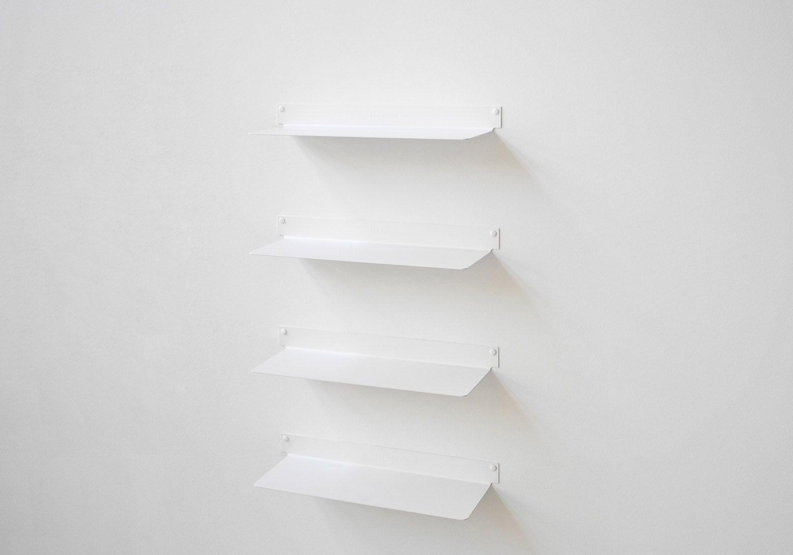 Tablette Murale A Fixation Invisible Étagère murale design - blanc, invisible et en métal 45 cm