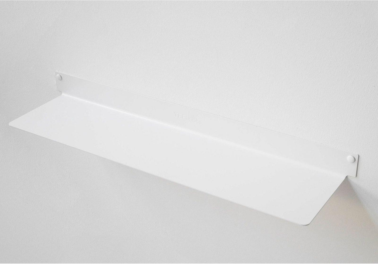 tag re murale design blanc invisible et en m tal 60 cm lot de 6. Black Bedroom Furniture Sets. Home Design Ideas
