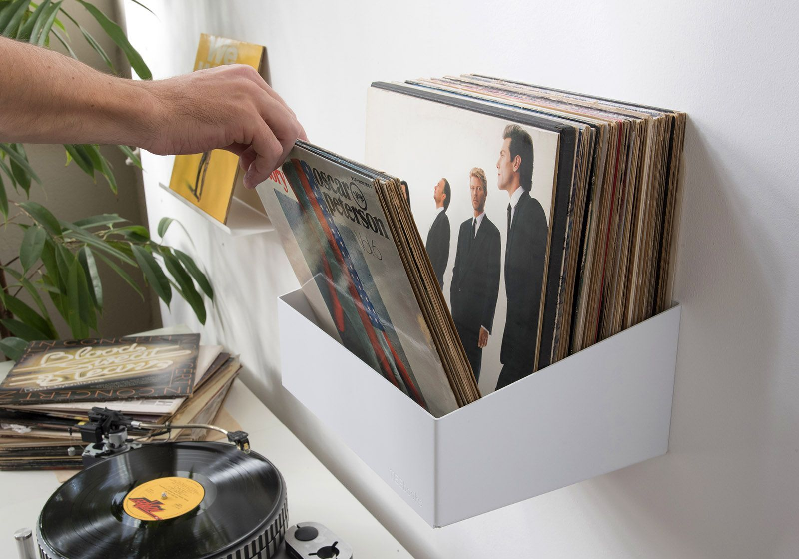 Tag re de rangement pour vinyles teenyle acier - Porta dischi vinile ...