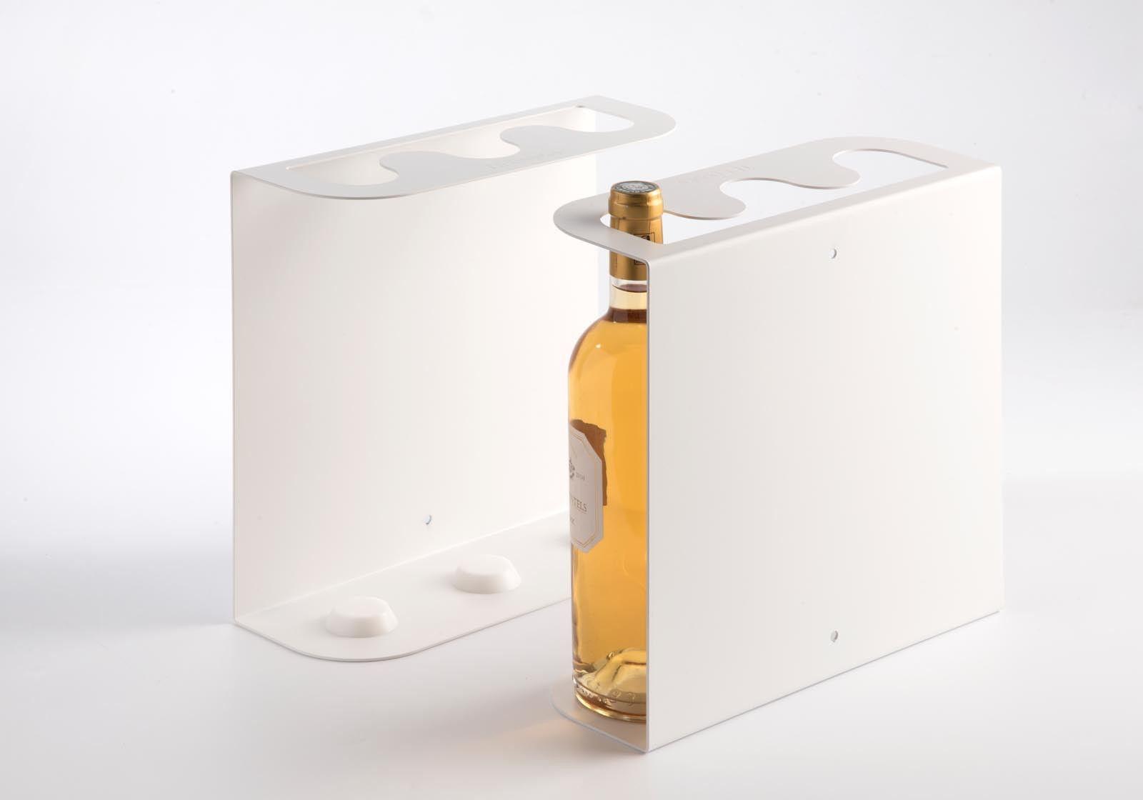 tag res porte bouteilles teewine 3 bouteilles 28x28 cm acier. Black Bedroom Furniture Sets. Home Design Ideas