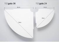 Lot de 2 étagère d'angle TEEgolo 24cm
