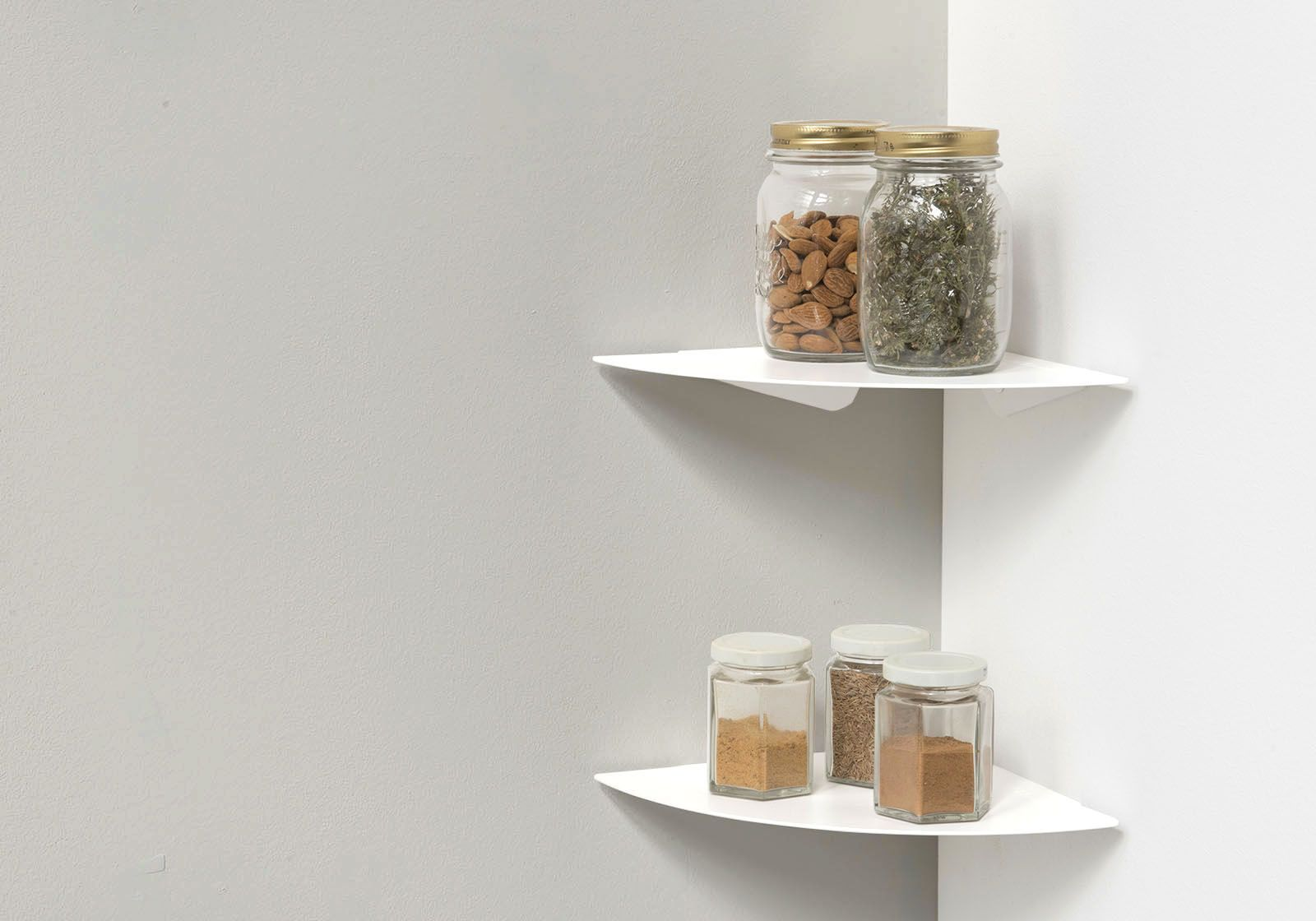 Eck Küchenregal TEEgolo 24 cm - Set mit 2