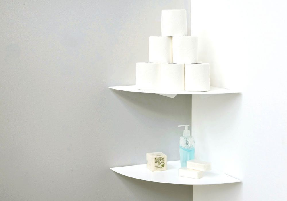 Estantes para el cuarto de baño TEEgolo 36cm - Juego de 2