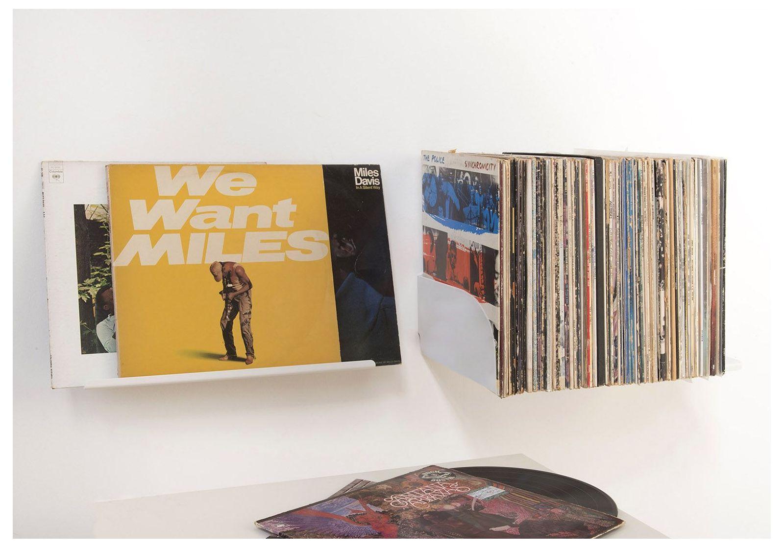 ubd record storage shelf set of 4. Black Bedroom Furniture Sets. Home Design Ideas
