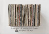 """Étagère de rangement pour vinyles """"UBD""""  - Lot de 2"""
