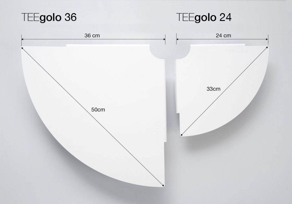 Set of 2 corner shelves TEEgolo 24cm