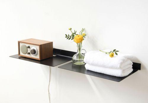 Étagère salle de bain TEEline - 25/45 cm - Lot de 2 - Acier