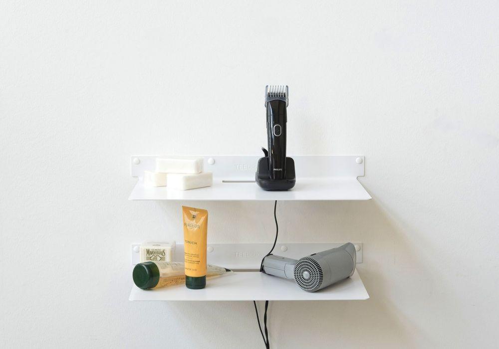 Mensole Da Bagno In Acciaio : Mensola per bagno teeline set di acciaio