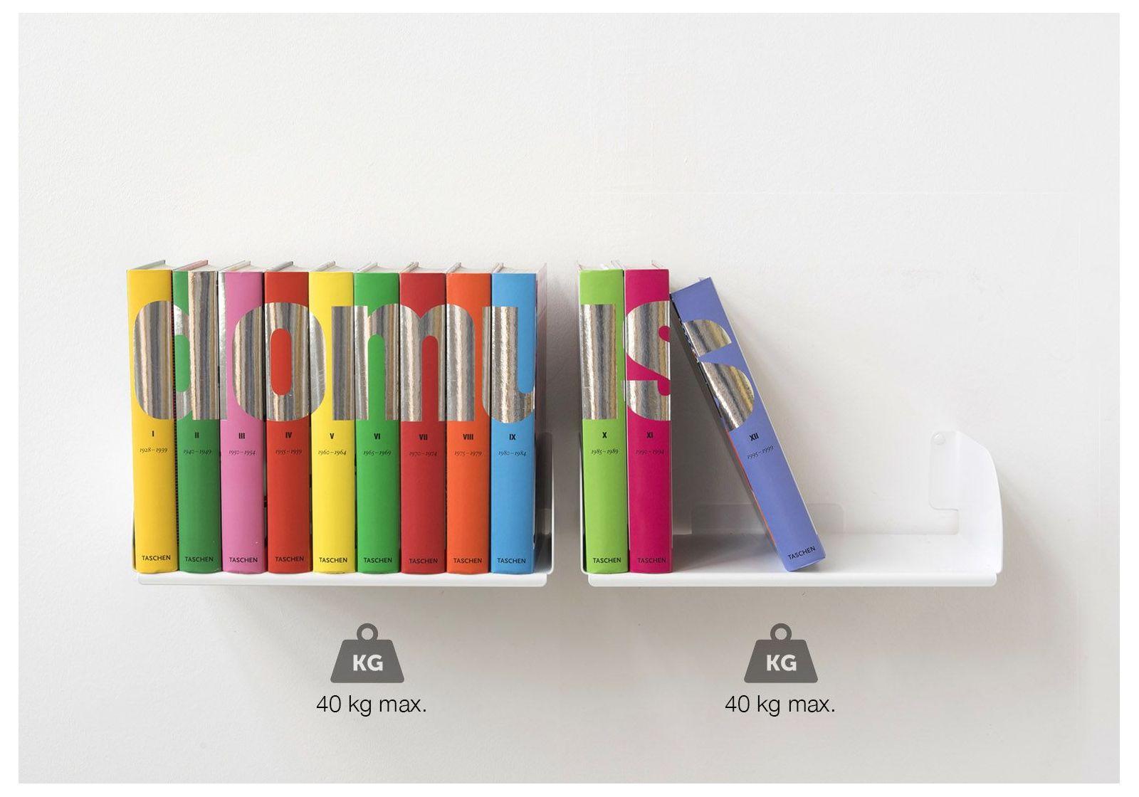 Wall bookshelves UBD 17,71 inch   Set of 4