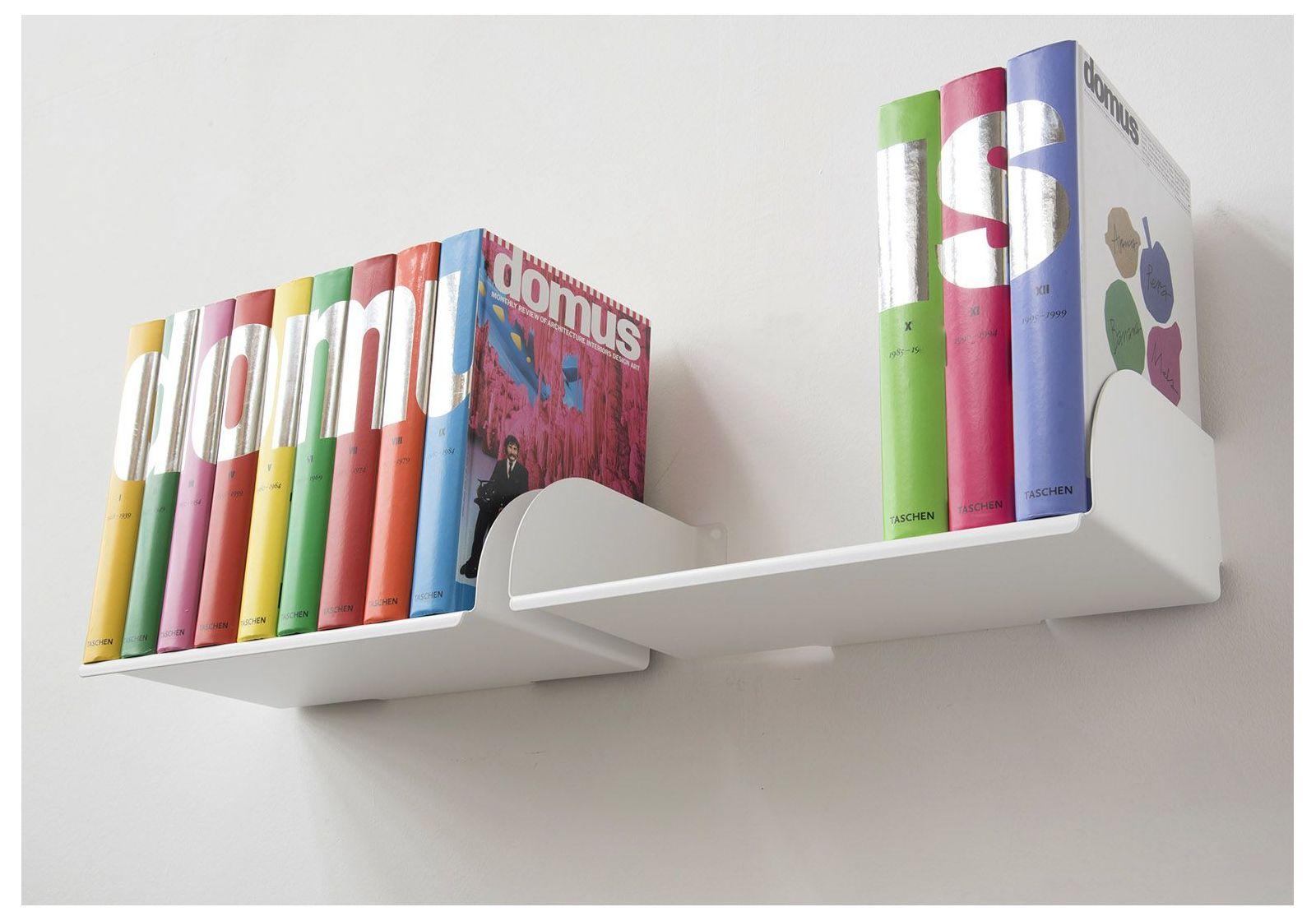 Tag re pour livre ubd lot de 4 45 cm acier jusqu 39 4 - Etagere murale pour livre ...
