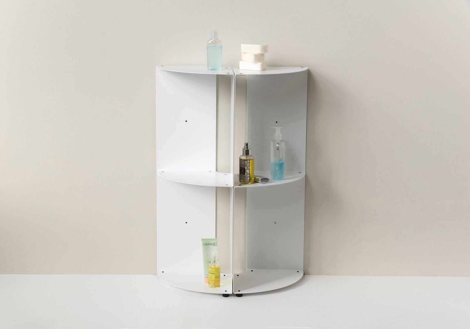 Vente Étagère angle salle de bain DANgolo - métal - 25x25x70cm