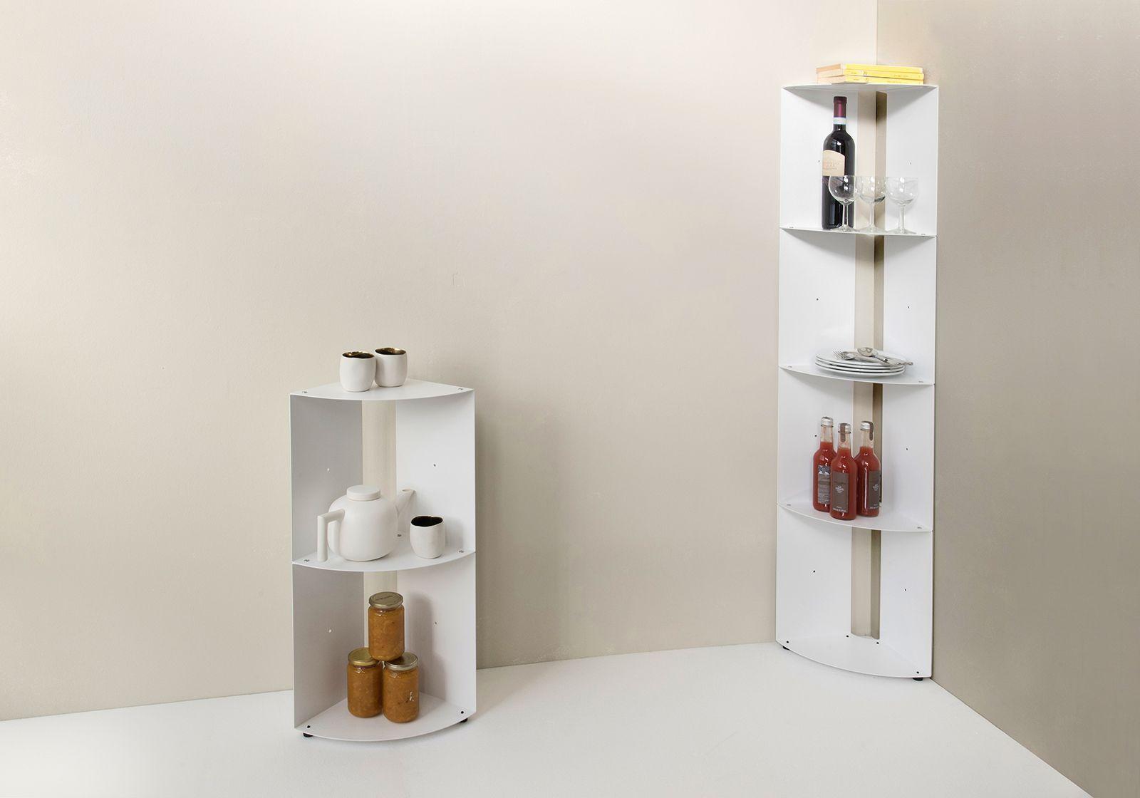 étagère D Angle De Cuisine Dangolo En Métal 25x25x70cm