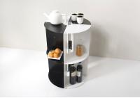 Mensola angolare per cucina DANgolo - Acciaio - 25x25x70cm