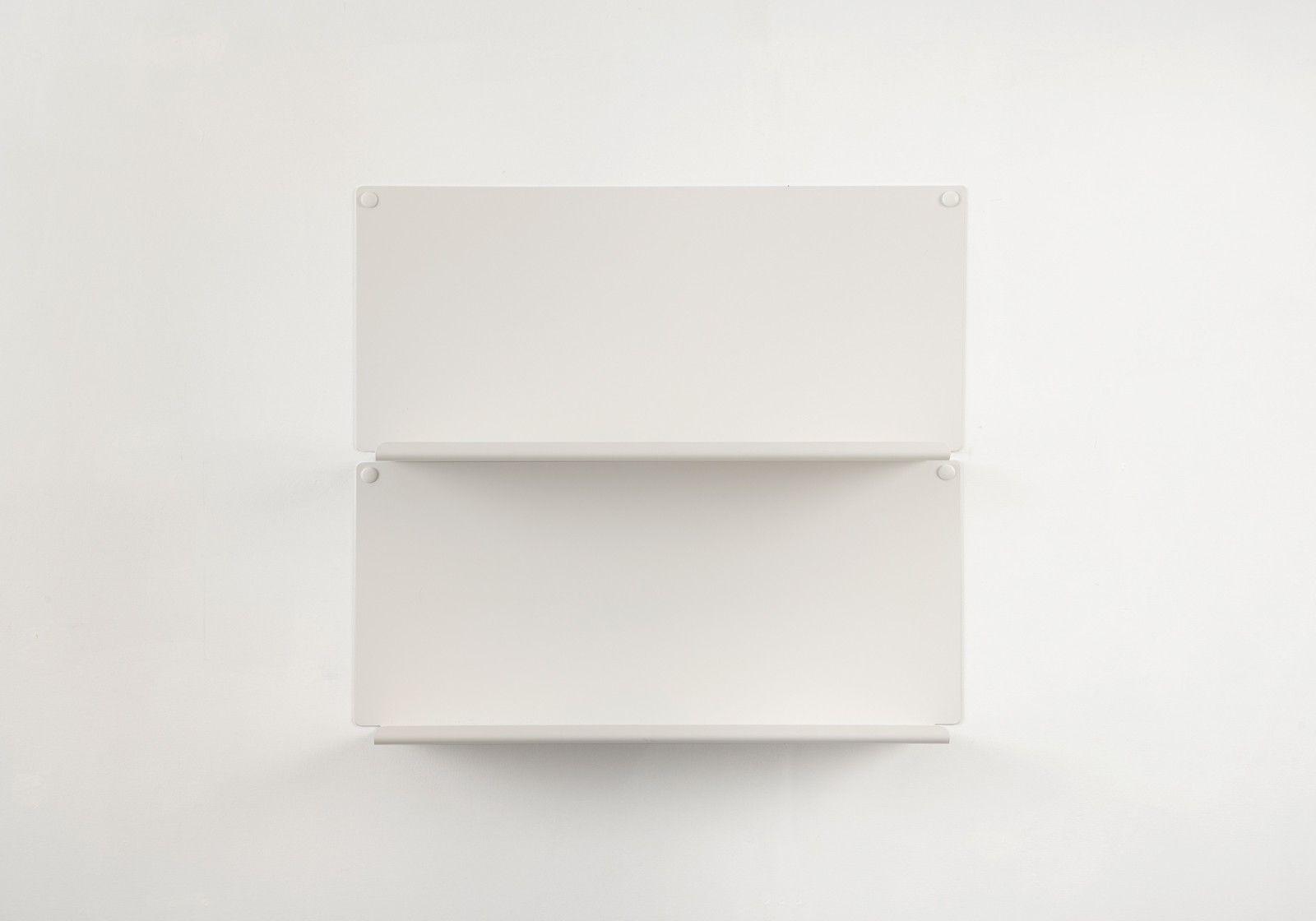"""Etagere 45 Cm Largeur Étagère pour salle de bain """"le"""" - lot de 2 - 45 x10 cm - acier - blanc"""
