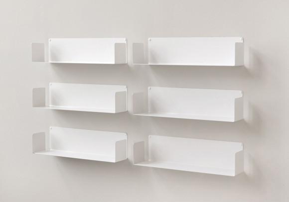 "Mensola modulare ""U"" - 60 cm - Set di 6 - Acciao"
