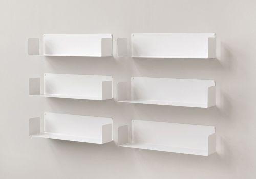 """Set di 6 mensola di design """"U"""" - 60 cm"""