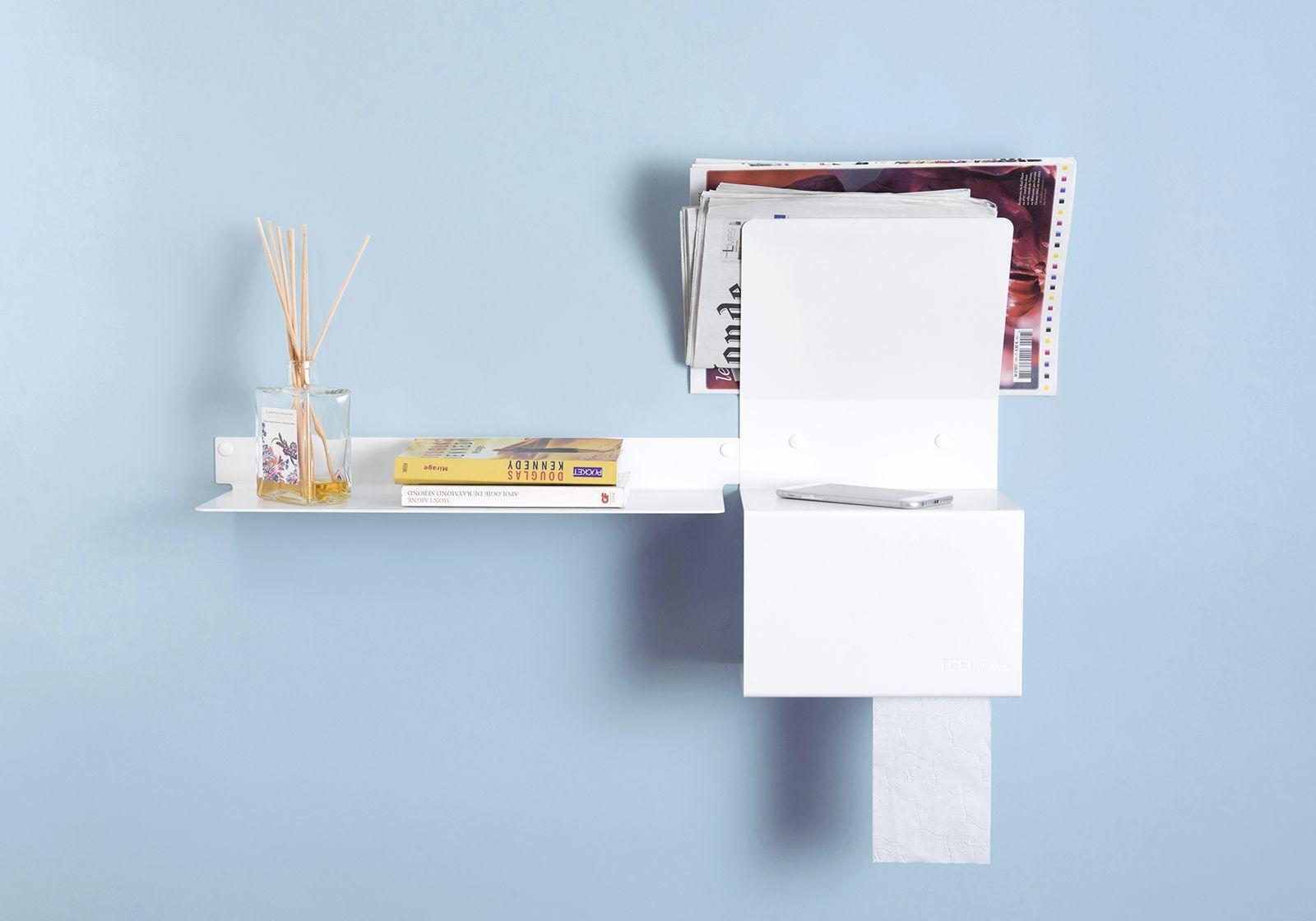 Porta carta igienica teelette acciao bianco 37 5x15x22cm - Porta carta igienica ...