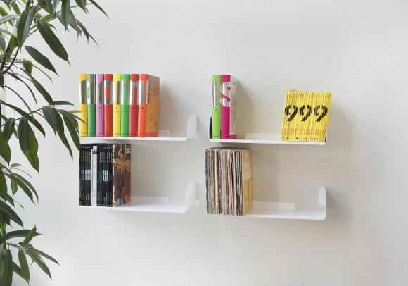 """Mensole per libri """"UBD"""" - Set di 4 - 45 cm - Acciao"""