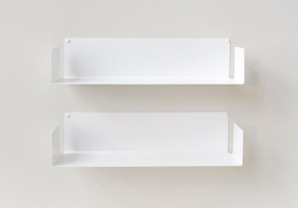 "Mensola modulare ""U"" - 60 cm - Set di 2 - Acciao"